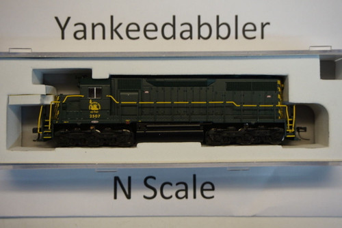 ATLAS 40003729 / EMD SD35 Low Nose - LokSound & DCC - Master(R) Gold -- Central Railroad of New Jersey 2507 (green, yellow)  Atlas Model Railroad Co.  - (SCALE=N) Part # 150-40003729