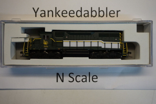 ATLAS 40003728 / EMD SD35 Low Nose - LokSound & DCC - Master(R) Gold -- Central Railroad of New Jersey # 2505 (green, yellow)  Atlas Model Railroad Co.  - (SCALE=N) Part # 150-40003728