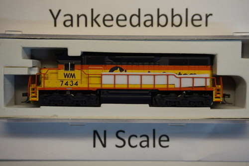 ATLAS 40003739 / EMD SD35 Low Nose - LokSound & DCC - Master(R) Gold -- Chessie WM  #7434 (yellow, blue)  Atlas Model Railroad Co.  - (SCALE=N) Part # 150-40003739