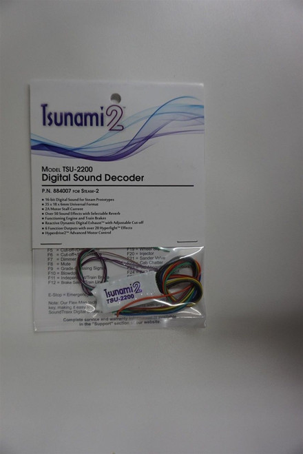 Soundtraxx {884007} TSU-2200 2 amp Tsunami2 Steam-2  for Engines