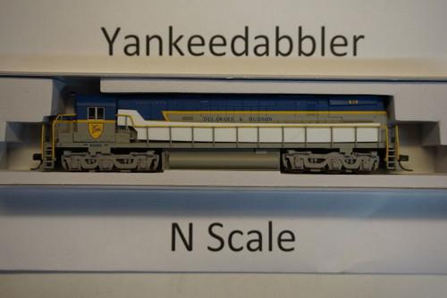 ATLAS 40003574 / Delaware & Hudson #618 (Lightning Stripe, gray, blue) ALCO D&H C-628 - LokSound & DCC - Master(R) Gold --   Atlas Model Railroad Co.  - (SCALE=N) Part # 150-40003574
