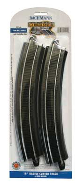 "44401 Bachmann / E-Z Track 18"" Radius Curved Track 4 Pieces (Scale=HO) 160-44401"