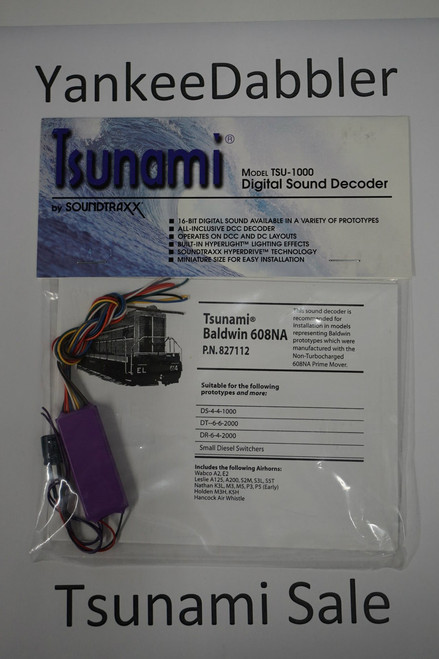 827112 Soundtraxx / Tsunami  TSU-1000 827112 Baldwin 608NA Diesel Scale = All Part # = 678-827112