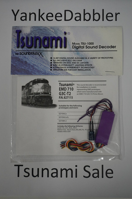827115 Soundtraxx / Tsunami  TSU-1000 827115 EMD 710 G3C-T2 Diesel Scale = All Part # = 678-827115
