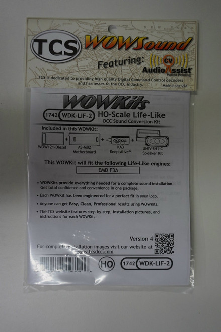 1742 TCS TRAIN CONTROL SYSTEM /  Life-Like {WOW WDK-LIF-2} DIESEL Version 4 CONVERSION KIT - HO Scale  YankeeDabbler Part # 745-1742