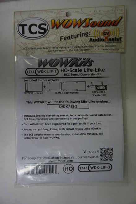 1743 TCS TRAIN CONTROL SYSTEM /  Life-Like {WOW WDK-LIF-3} DIESEL Version 4 CONVERSION KIT - HO Scale  YankeeDabbler Part # 745-1743