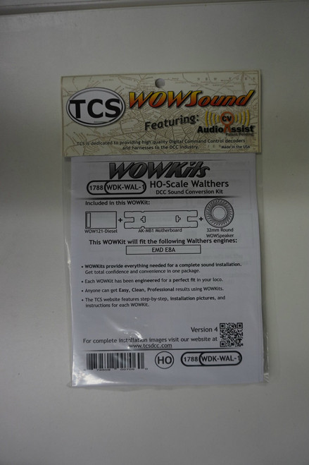 1788 TCS TRAIN CONTOL SYSTEMS / WALTHERS WDK-WAL-1 WOW DIESEL Version 4 CONVERSION KIT - HO Scale  YankeeDabbler Part # 745-1788