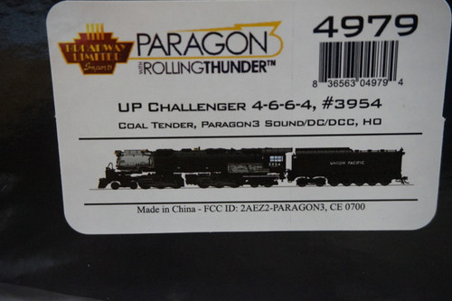 BLI-4979 Challenger 4-6-6-4 Union Pacific UP #3954 Broadway Limited  (SCALE=HO)  Part # 187-4979
