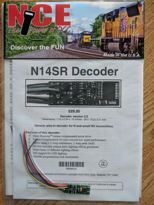 131 NCE /  Decoders -- N14SR - Generic, Narrow, T (SCALE=N) Part # = NCE131