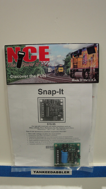 115 NCE /  Snap-It Switch Machine DCC Decoder (SCALE=ALL) Part # = NCE115