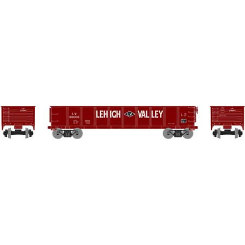RND87959 Roundhouse 40' Gondola LV Lehigh Valley #33391  (HO Scale) Part #RDN87959