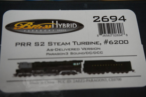 BLI-2694 PRR S2 Steam Turbine 6-8-6 #6200 - as delivered Broadway Limited  (SCALE=HO)  Part # 187-2694