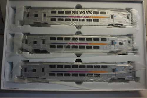 Atlas 20004829 NJ Transit Modern Commuter Cab Car & Trailer 3 Pack (HO Scale) 150-20004829