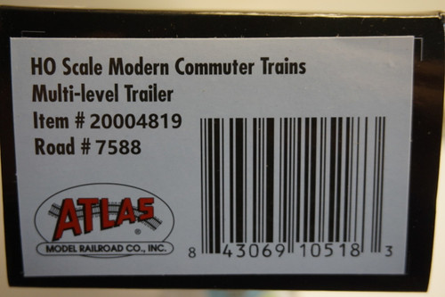 Atlas 20004819 NJ Transit Multi-Level Trailer without Toilet #7588 (HO Scale) 150-20004819