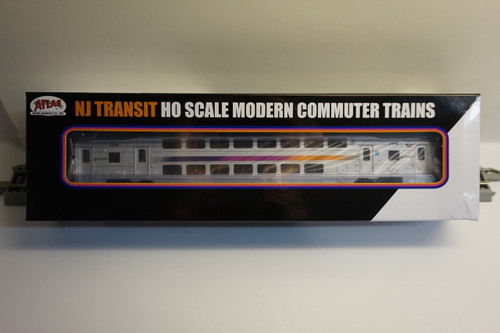 Atlas 20004820 NJ Transit Multi-Level Trailer without Toilet #7596 (HO Scale) 150-20004820