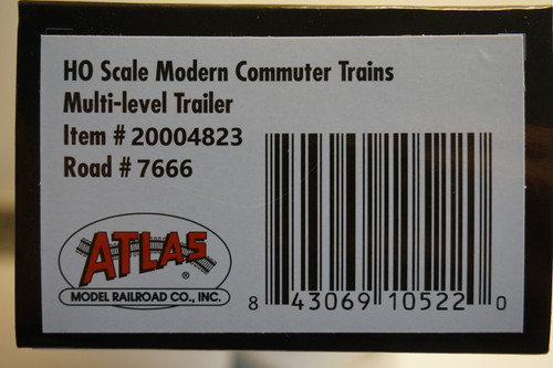 Atlas 20004823 NJ Transit Multi-Level Trailer without Toilet #7666 (HO Scale) 150-20004823