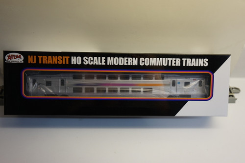 Atlas 20004824 NJ Transit Multi-Level Trailer without Toilet #7673 (HO Scale) 150-20004824