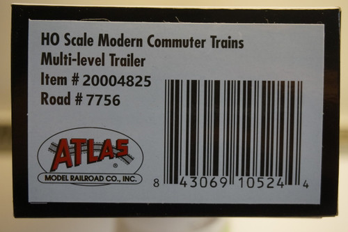 "Atlas 20004825 ""Cruise Control"" NJ Transit Multi-Level Trailer with Safety Slogan #7756 (HO Scale) 150-20004825"