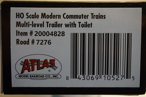 "Atlas 20004828 ""Hands Free"" NJ Transit Multi-Level Trailer with Safety Slogan #7276 (HO Scale) 150-20004828"