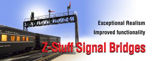 DZ-1090-HO-CustomZstuff Trains / Custom Signal Bridge (Scale = HO) Part # = DZ-1090-HO-Custom