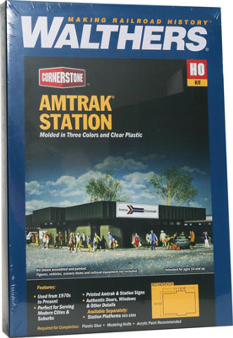 3038 Walthers Amtrak(R) Station (Scale=HO) Cornerstone Part#933-3038