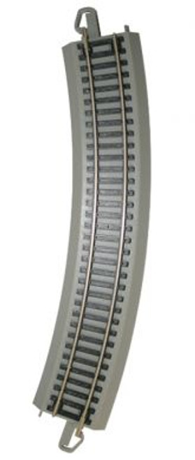 """44580 Bachmann / E-Z Track NS 18"""" Radius Curved Track Bulk Pack 50 Pieces (Scale=HO) 160-44580"""