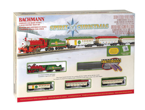 24017 Bachmann / Spirit of Christmas Train Set Scale = N Part # = 160-24017