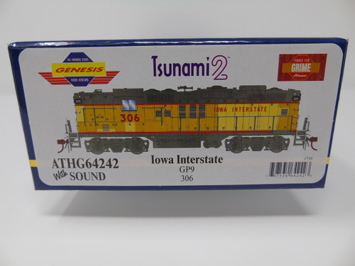 ATHG64242 GP9 Iowa Interstate #306 with DCC & Sound Tsunami2  (SCALE=HO)  Part #ATHG64242