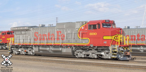 Scaletrains {SXT31304} GE Dash 9-44CW - ESU v5.0 DCC and Sound - ATSF - Santa FE Warbonnet #600 (SCALE=HO)
