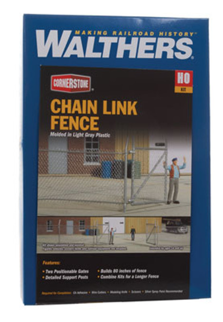 3125c Walthers  Chain Link Fence (HO Scale) Part#933-3125