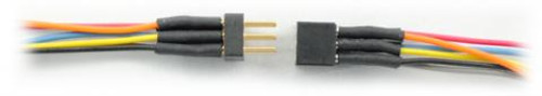 TCS 1411 6 Pin (2x3) Mini Connector with Colored Wires (SCALE=ALL) Part #745-1411