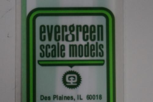 """Evergreen 228 - Styrene - Tube .250"""" 1/4"""" diameter pkg(3) (Scale=HO) Part # 269-228"""