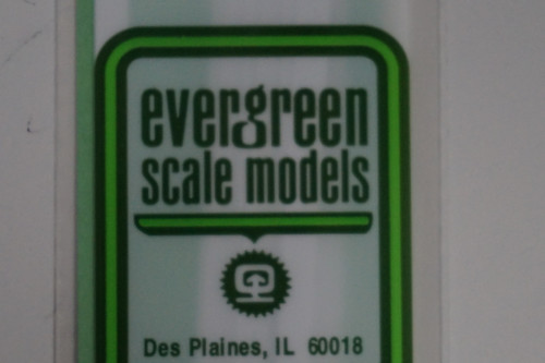 "Evergreen 256 - Square Tube .375"" 3/8"" pkg(2) (Scale=HO) Part # 269-256"