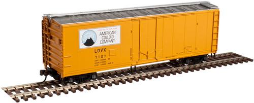 Atlas 20003492 40' Plug Door Boxcar - American Colloid #7121 (SCALE=HO) Part #150-20003492