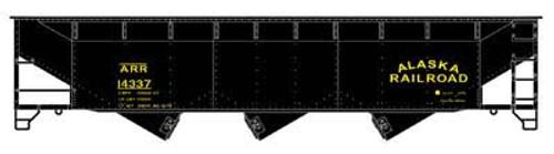 Bowser 56659 70 Ton Offset Triple Hopper ARR - Alaska Railroad #14308 (SCALE=HO) Part # 6-56659