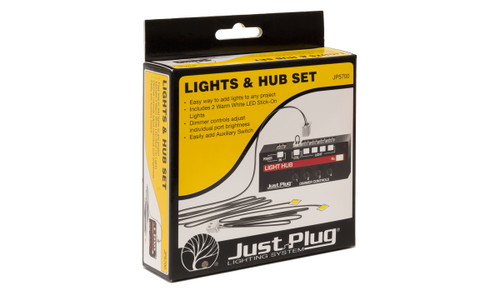Woodland Scenics 5700 Lights & Hub Set - Just Plug  (SCALE=ALL)  Part # 785-5700