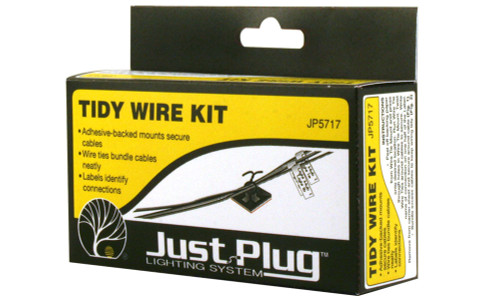 Woodland Scenics 5717 Tidy Wire Kit - Just Plug  (SCALE=ALL)  Part # 785-5717
