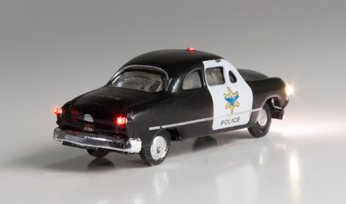 Woodland Scenics 5613 Police Car - Just Plug  (SCALE=N)  Part # 785-5613