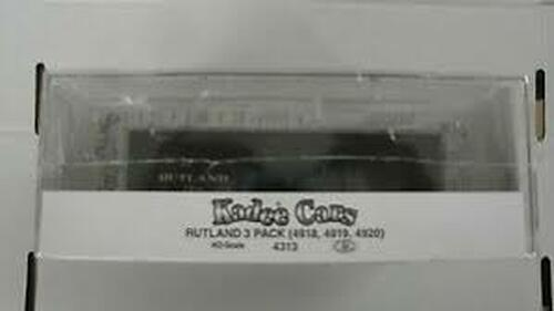 Kadee 4313 PS 40' Boxcar RUT - Rutland (3 Pack) #178, 248 & 293  (HO Scale) Part # 380-4313