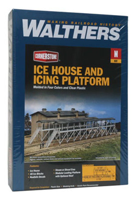3245 Walthers Ice House & Icing Platform Walthers Cornerstone #3245 (N Scale) Cornerstone Part# 933-3245