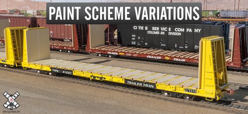 Scaletrains {SXT31164} BSC F68AH Bulkhead Flatcar - Trailer Train - TTPX #81087 (Scale=HO) Part#8003-SXT31164