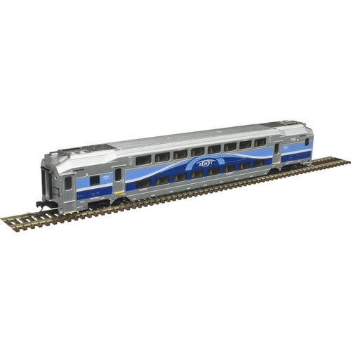 ATLAS 50004406 ALP-45DP - AMT #1368 + Cab Car + Trailer - Silver - DCC Ready (SCALE=N) Part # 150-50004406
