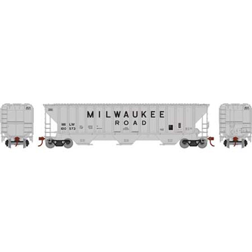 Athearn ATH18752 PS 4740 Hopper Milw - Milwaukee Road #100573  (HO Scale) Part #ATH18752