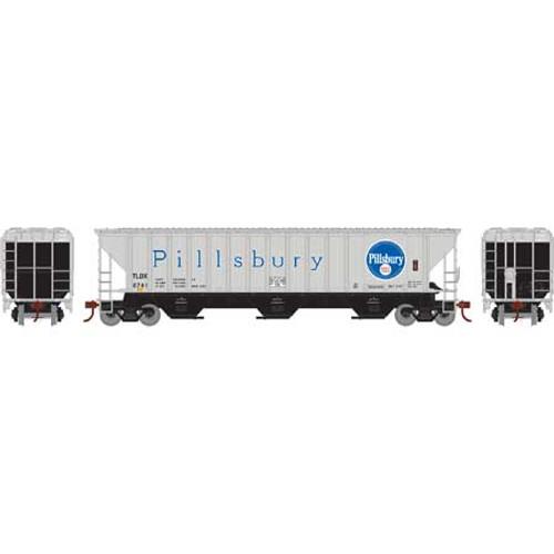 Athearn ATH18755 PS 4740 Hopper TLDX - Pillsbury #6741  (HO Scale) Part #ATH18755