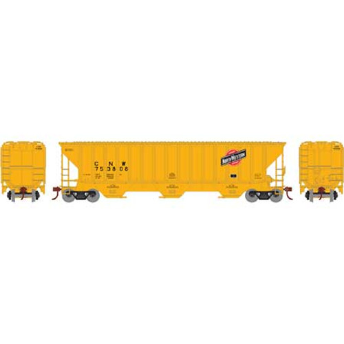 Athearn ATH18767 PS 4740 Hopper C&NW - Chicago & North Western #753808 (HO Scale) Part #ATH18767