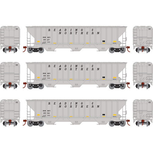Athearn ATH18774 PS 4740 Hopper 3 Pack RBMN - Reading & Blue Mountain Northern #9527, 9563 & 9582  (HO Scale) Part #ATH18774