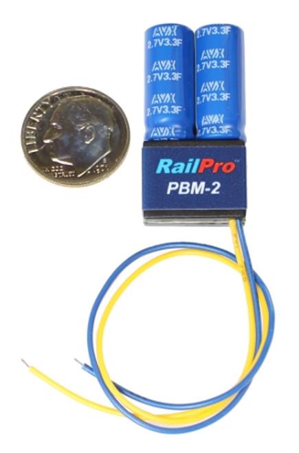 PBM-2 Ring Engineering / RailPro PBM-2 Power Backup Module (Scale=HO & S) YANKEEDABBLER Part # = 634-PBM-2