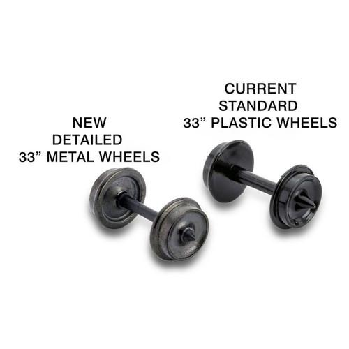 """MICRO TRAINS 003 12 021 33"""" Metal Wheels (60 Axle) Sets (403-60)  (SCALE=N)   - YANKEEDABBLER   PART #  = 489-00312021"""