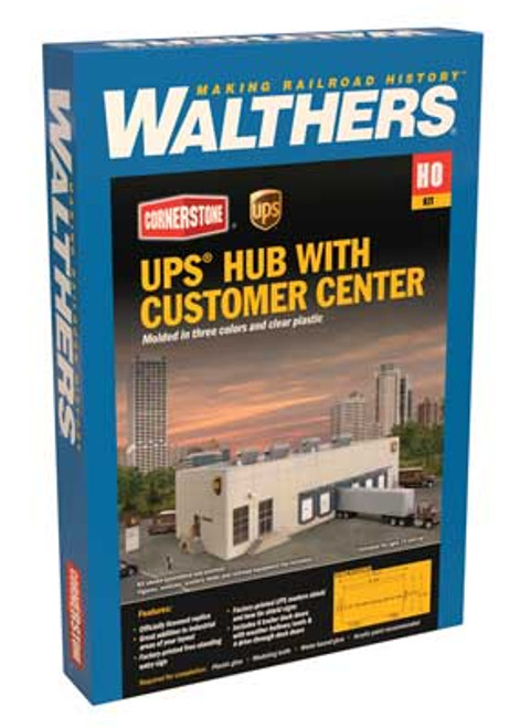 933-4110  UPS(R) Hub with Customer Center  (Scale=HO) Cornerstone Part#933-4110