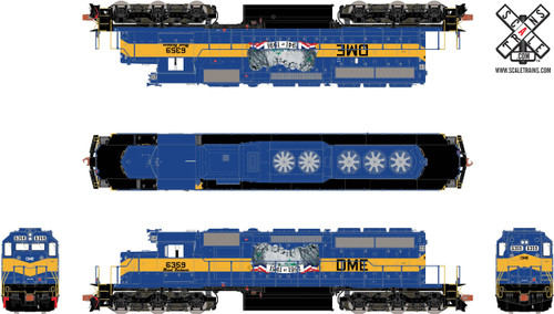 ScaleTrains SXT31260 SD40-2 DM&E Mount Rushmore #6359 ESU LokSound DCC & Sound Rivet Counter (SCALE=HO)  Part # 8003-SXT31260